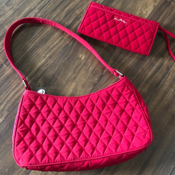 Vera Bradley Bags | Red Quilted Purse | Poshmark